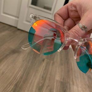 Multi-Color Mirrored Sunglasses